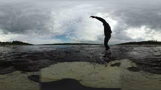 Лайтовая рибалка на річці Вілюй / 360 video