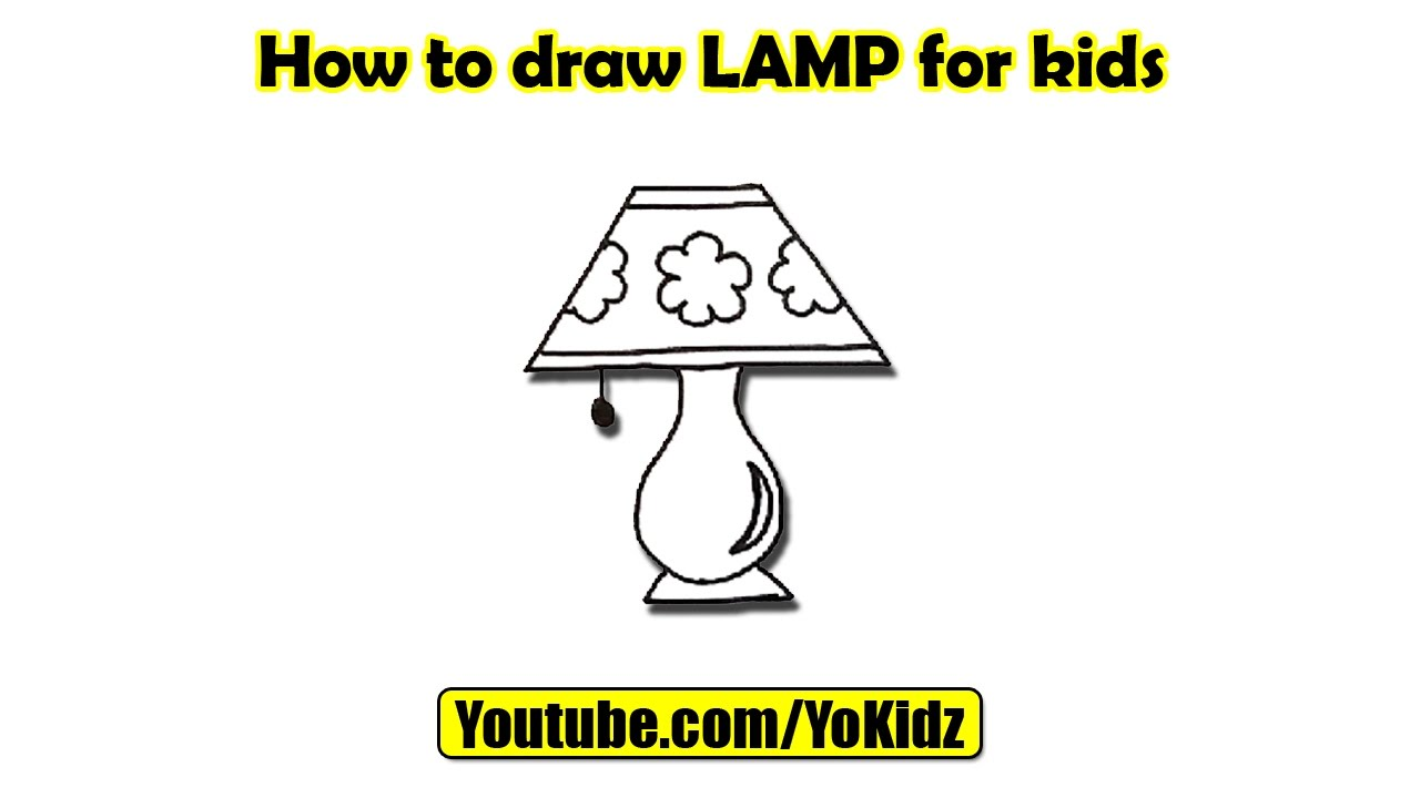 Lamp drawing for kids