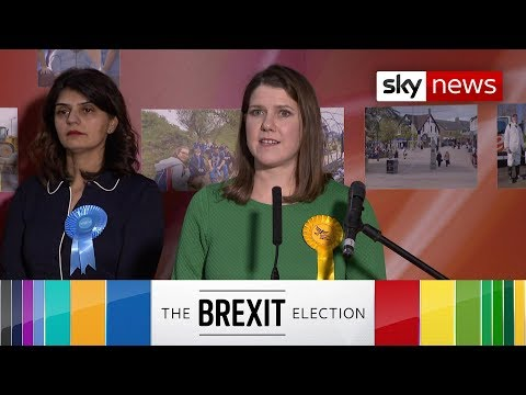 Sky News: Watch the moment Lib Dem leader Jo Swinson lost her seat