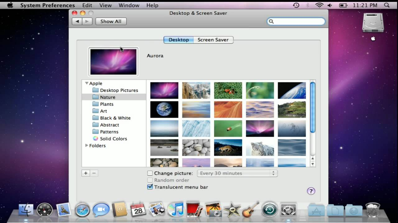 How to change your desktop background in mac os x youtube for Change background wallpaper your home screen