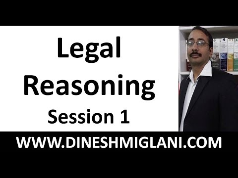 Legal Reasoning Session 1 for CLAT by Dinesh Miglani Sir