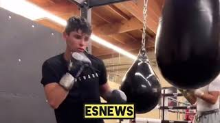 FASTEST HANDS IN BOXING! Ryan Garcia Working Very Hard For His Next Fight