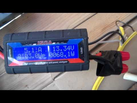 Real life output of a renogy 100 watt solar panel