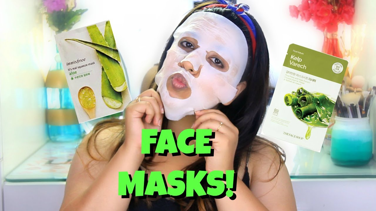 Face Shop Sheet Mask Vs Innisfree Review Comparison The Real Nature Kelp