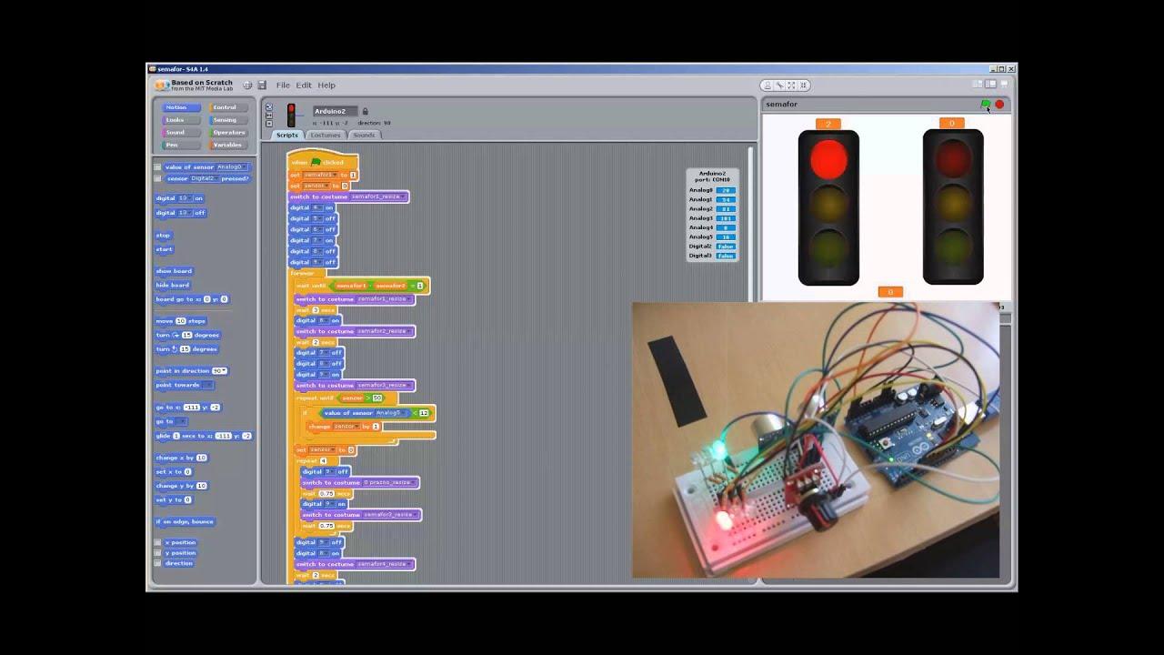 Scratch arduino s a primer semafori youtube