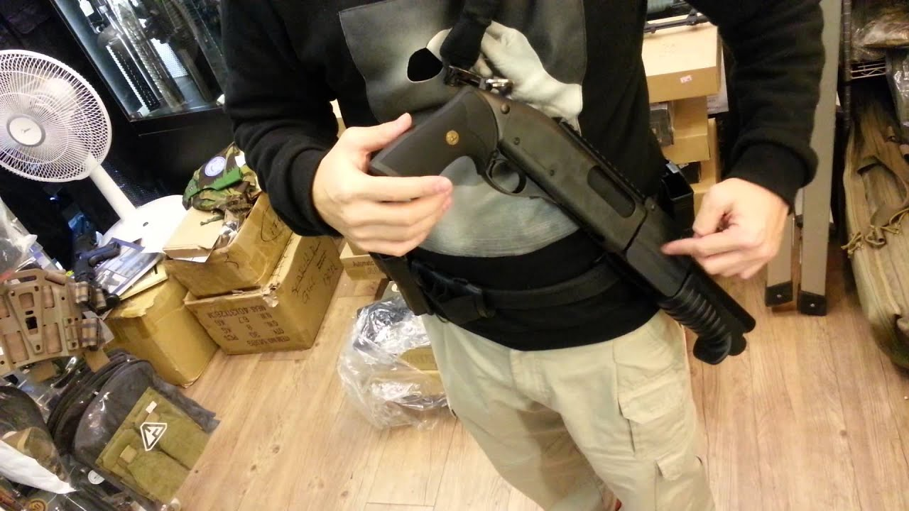 crw kydex holster marui m870 breacher youtube