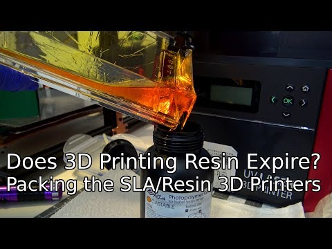 Testing if 3D Printing Resin Expires - Packing the SLA printers to move!