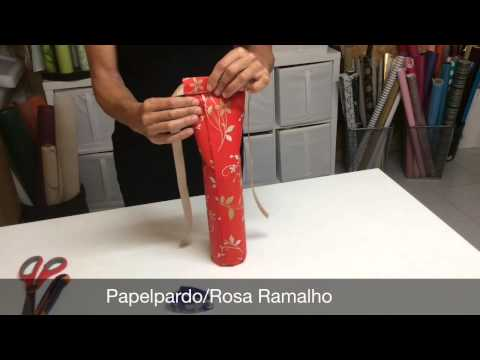How to gift wrap a bottle of wine #wrappingabottle