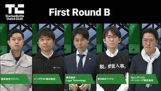 TechCrunch Startup Battle Online 2020/First Round グループB