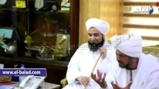 بالفيديو والصور.. محافظ أسوان يستقبل أسامة الأزهرى والحبيب الجعفرى والإدريسي