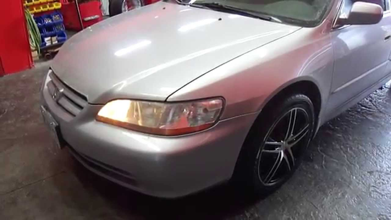 Honda Accord 2000 Black With Rims
