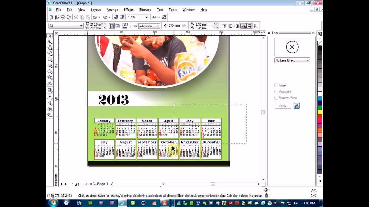 Calendar Design Using Photo : How you go take design calender using corel draw youtube