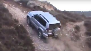 Toyota Land Cruiser Prado Off road Compilation Mud Sand Fails Hill Climb