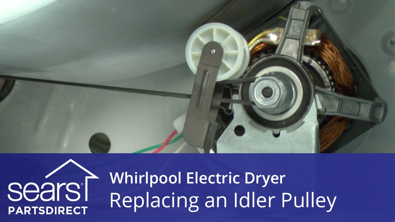 how to replace a whirlpool electric dryer idler pulley [ 1280 x 720 Pixel ]