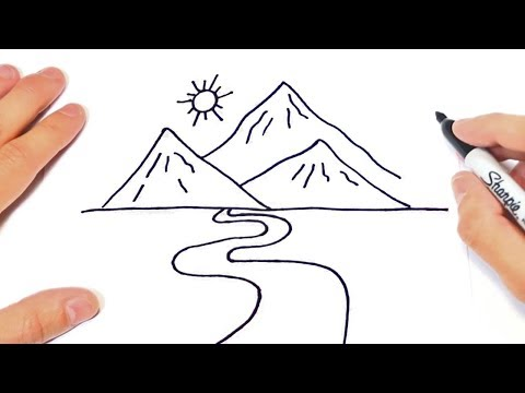 How To Draw A Mountain Step By Step | Landscape Drawings