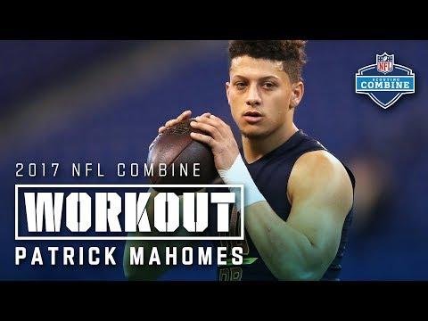 Patrick Mahomes' 2017 Combine Workout