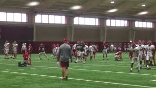 Jalen Hurts in individual drills