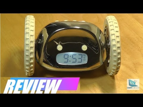 REVIEW: Clocky - Runaway Alarm Clock on Wheels! (Original) - YouTube