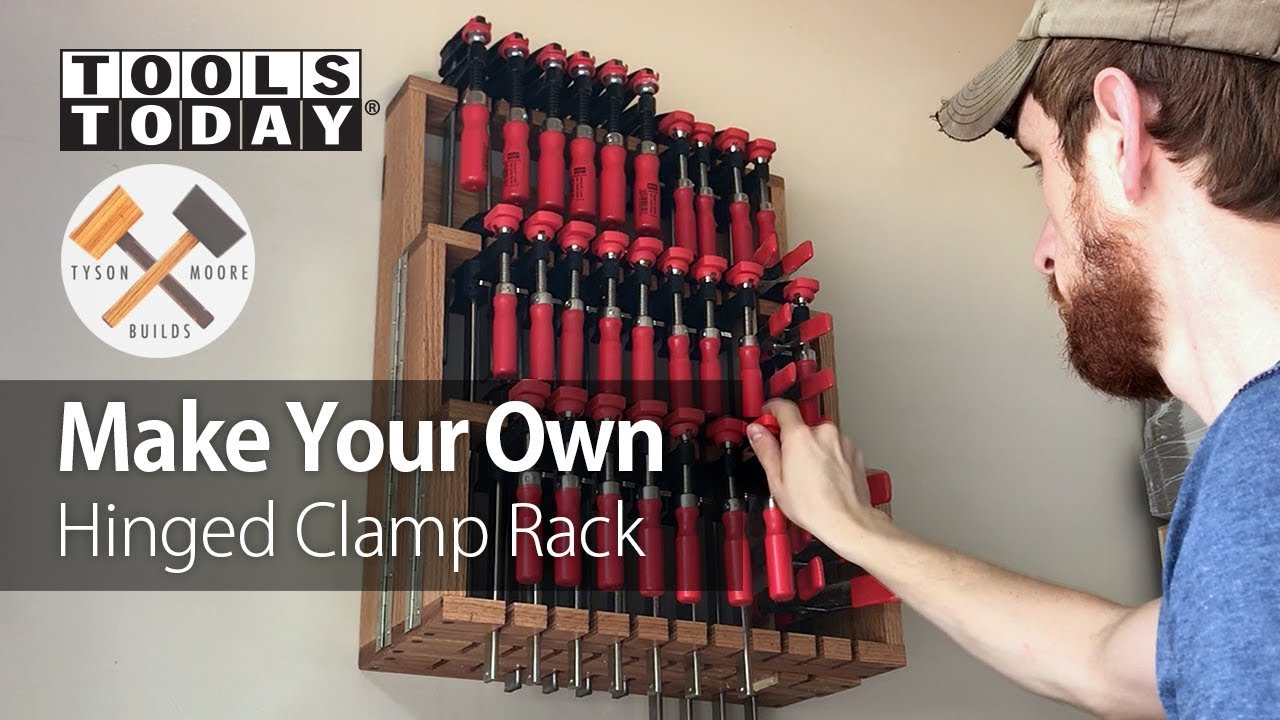 Diy Woodworking Project Building A Hinged Clamp Rack