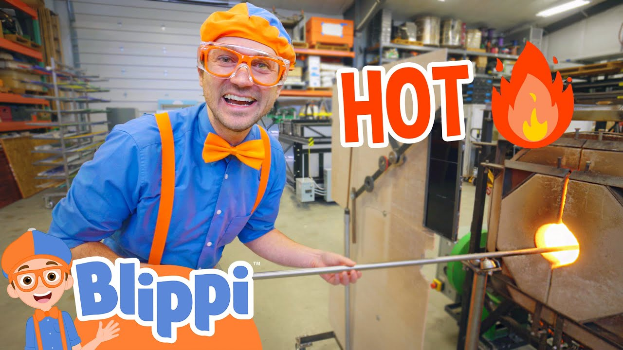 Blippi Visits A Glass Workshop | Educational Videos For Kids