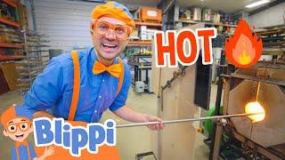 Blippi Visits A Glass Workshop | Educational Videos For Kids