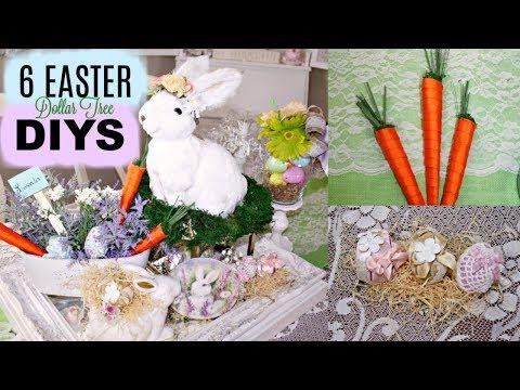 🐇6 DIY DOLLAR TREE EASTER SPRING DECOR CRAFTS🐇VIGNETTE, FLOWER ARRANGEMENT, CARROTS, EGGS