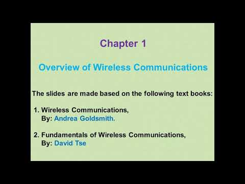 Wireless Communications-Lecture I (Overview Of Wireless Communications-History)