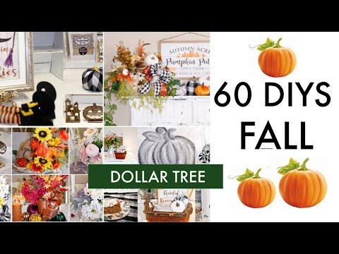 "🍁60 DIY DOLLAR TREE DECOR CRAFTS TUTORIAL 2019 🍁""I LOVE FALL ep. 29 Olivia's Romantic Home DIY"