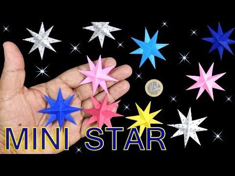 How to make simple & easy mini Paper Star | DIY Paper Craft Ideas, Videos & Tutorials