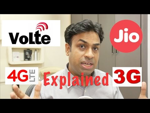 VOLTE, 4G LTE & 4G Networks Explained & Reliance Jio 4G