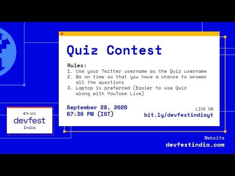 Quiz #DevFestIndia