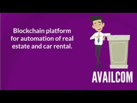 AVAILCOM. Blockchain platform for automation of real estate and car rental.