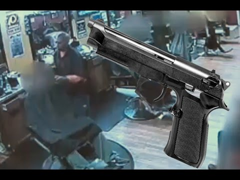 Insane shootout at barbershop caught on tape
