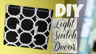 Creative Diy: Use Contact Paper To Decorate  Light Switch | National Craft Month | Thecreativelady