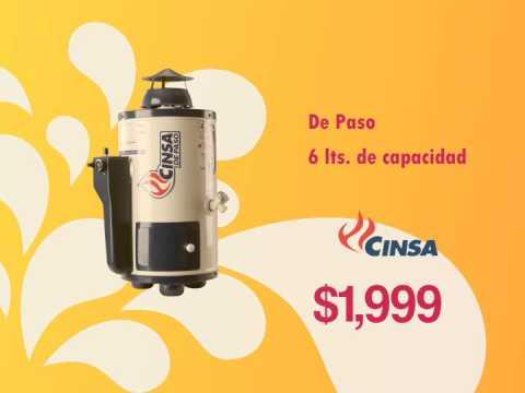 Calentadores cinsa y soporte bratech youtube - Calentadores de gas butano precios ...