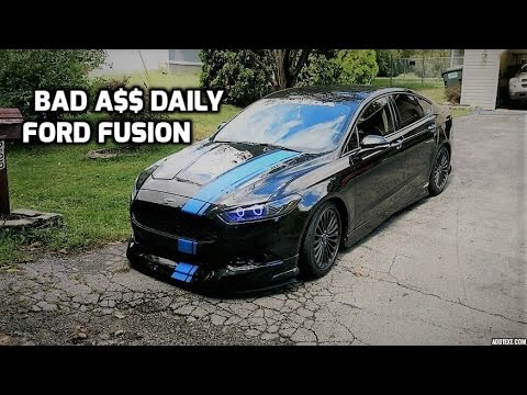 Ford Escape 2014 Custom >> 2014 Ford Fusion Walkaround | Body Kit - Halos - Lowered - Custom Trunk - YouTube