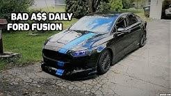2014 Ford Fusion Walkaround | Body Kit - Halos - Lowered - Custom Trunk