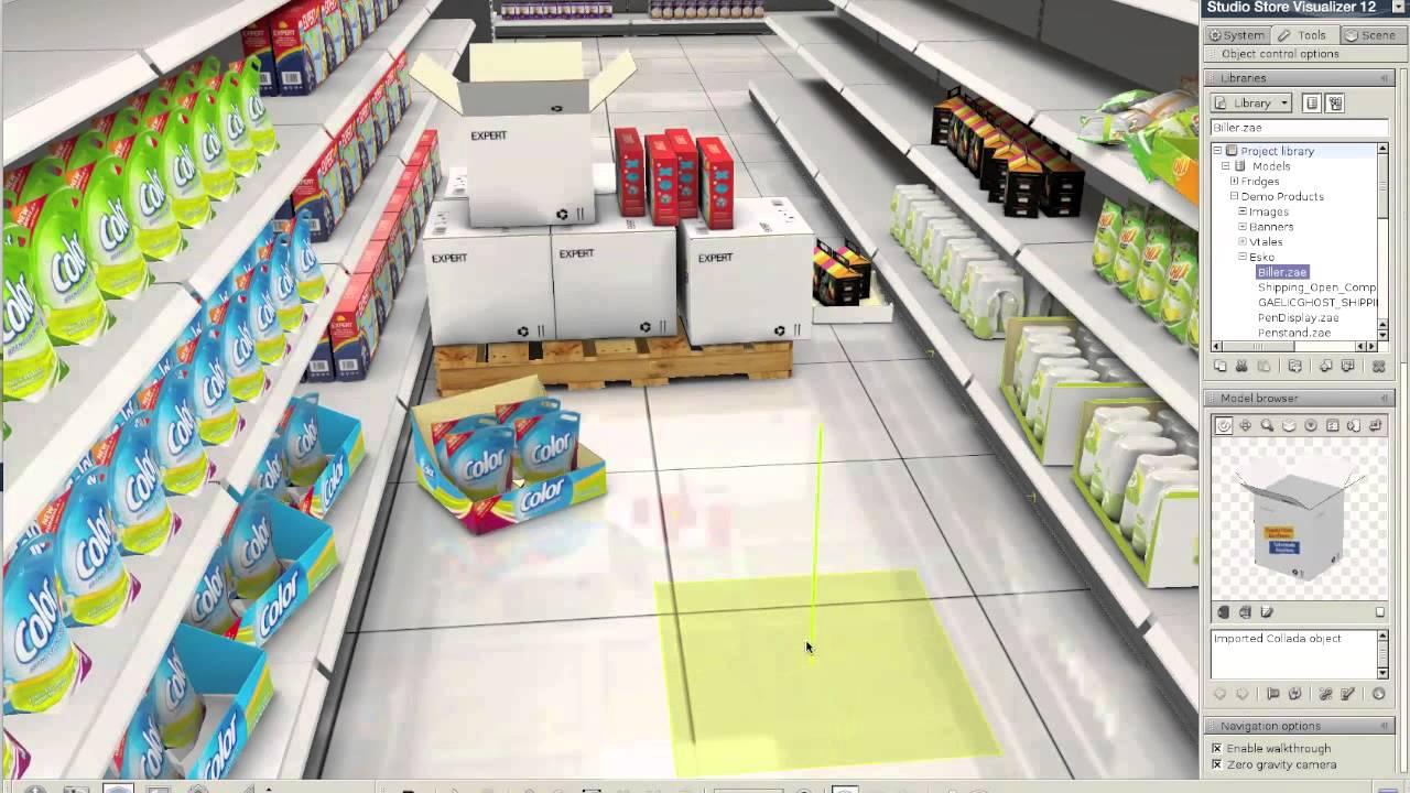 Corrugated Packaging on Supermarket shelves