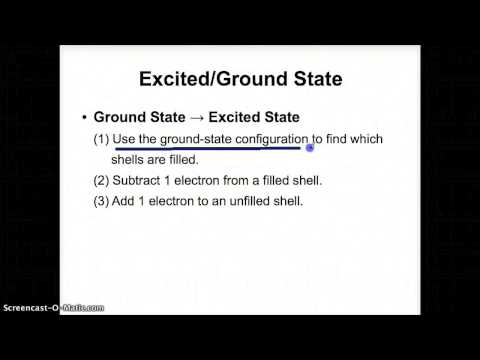 Ground State & Excited State Conversions - October 28
