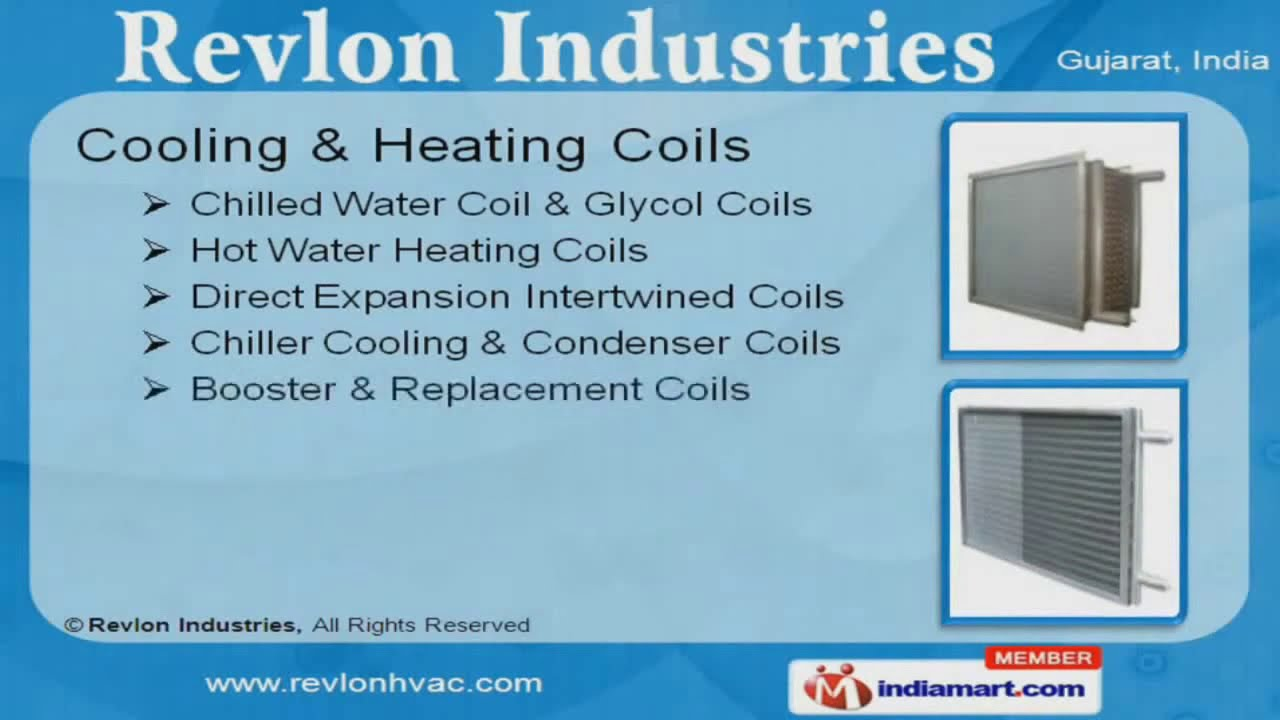 Cooling & Heating Coils by Revlon Industries Ahmedabad - YouTube