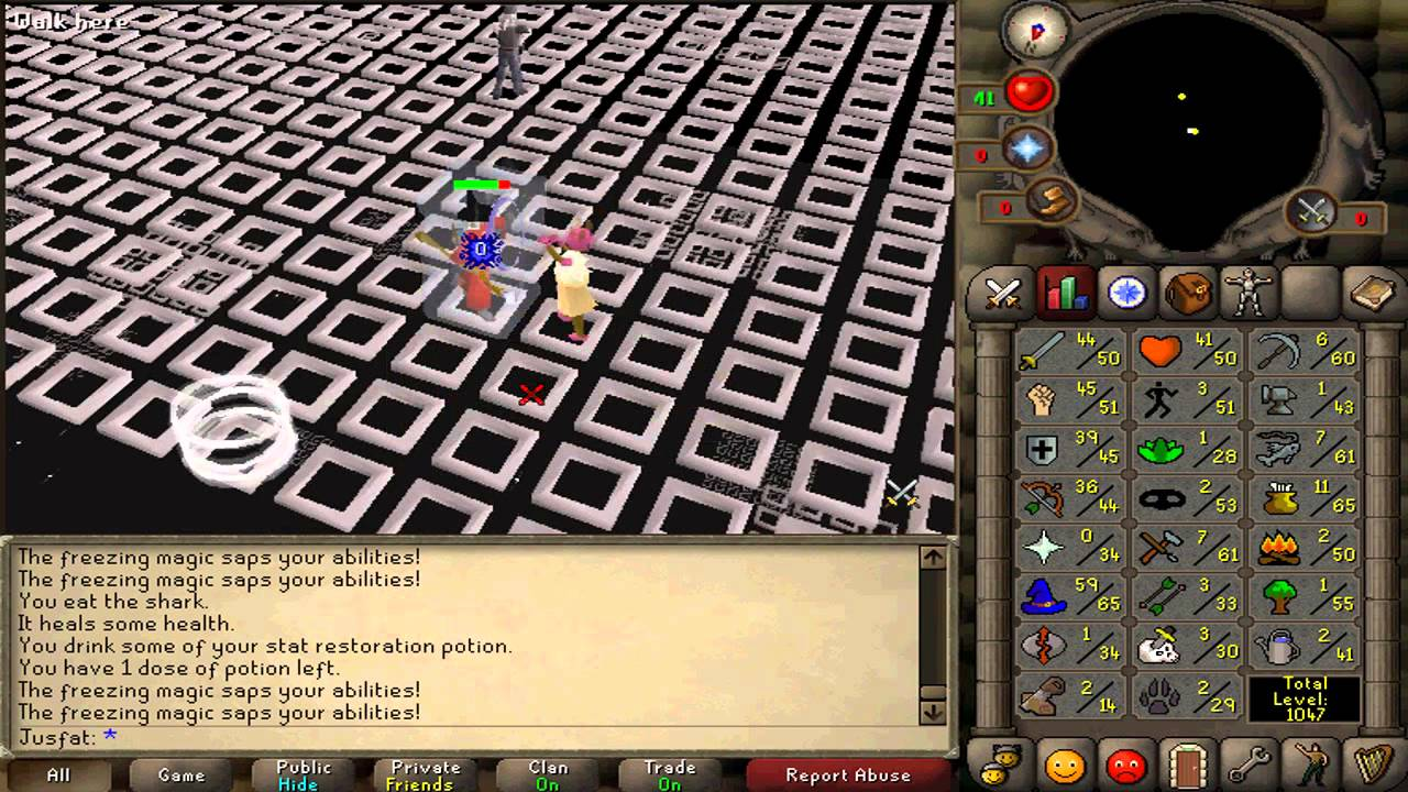 Barrows gloves at 52 cmb: 2007scape.