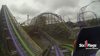 the joker 1st real pov hd six flags discovery kingdom true 1080p rmc roller coaster hybrid