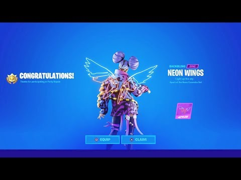CLAIM THE FREE BACKBLING IN FORTNITE! (Neon Wings)