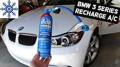 HOW TO RECHARGE AC AIR CONDITIONER ON BMW E90 E91 E92 E93