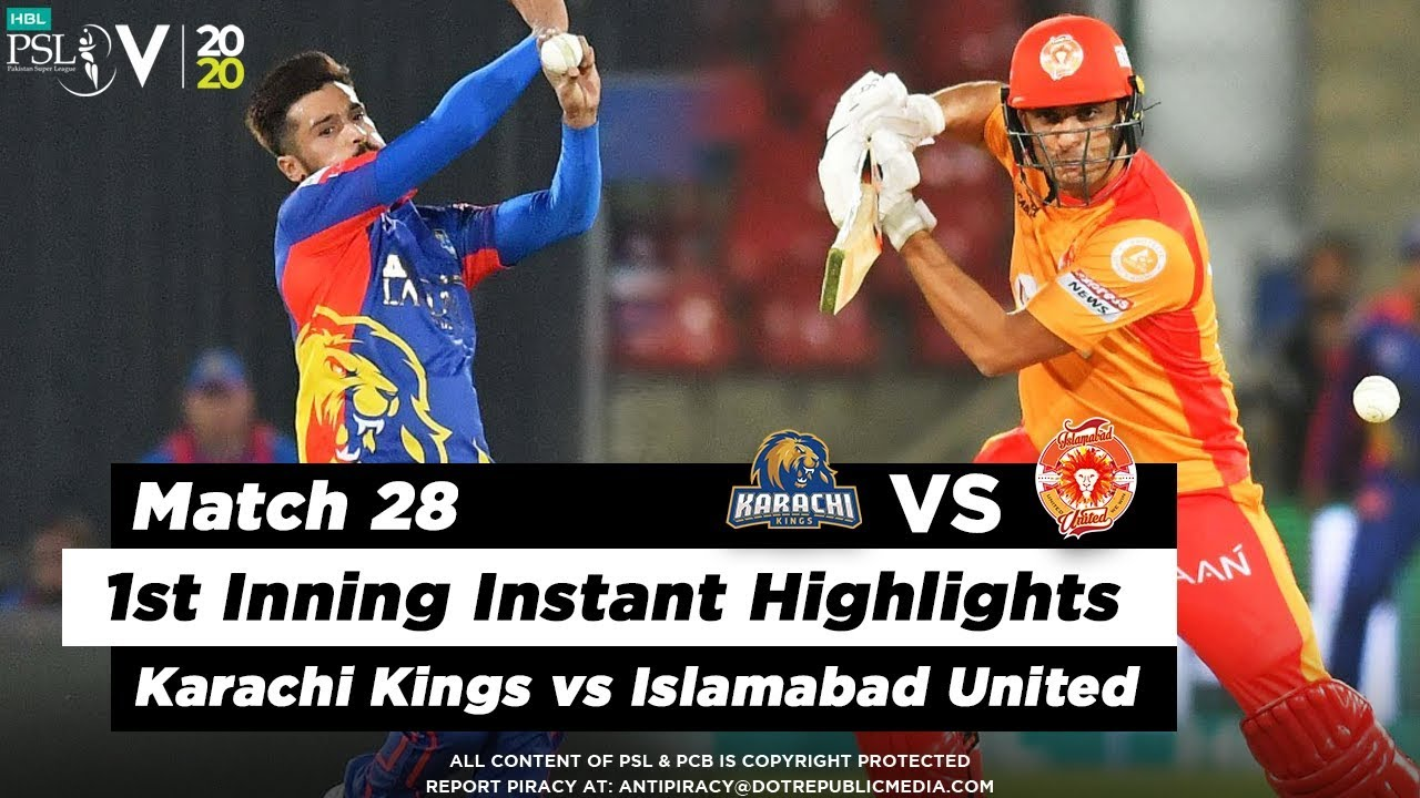 Islamabad United vs Karachi Kings | 1st Inning Highlights | Match 28 | 14 March | HBL PSL 2020