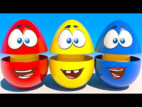 Thumbnail: Learn Colors and Shapes with 3D surprise Eggs cartoon video for Kids and Children