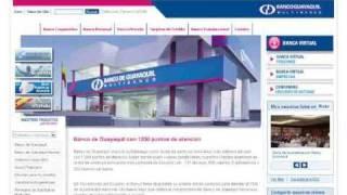 Ejemplo de Tutorial para uso del sitio web de Banco de Guayaquil
