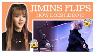BTS JIMIN FLIPS&DANCING COMPILATION REACTION // ItsGeorginaOkay MP3
