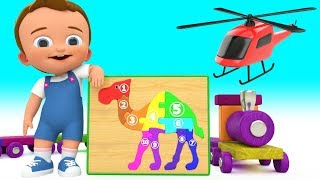 Camel Puzzle Wooden ToySet 3D | Little Baby Fun Learning Numbers & Colors for Children Kids Edu