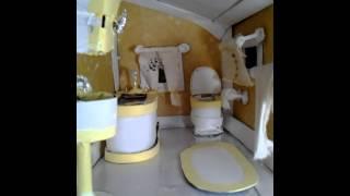 Cardboard Doll House Bathroom Finished